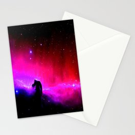 Galaxy : Horsehead nEbUlA Pink Red Purple Stationery Cards
