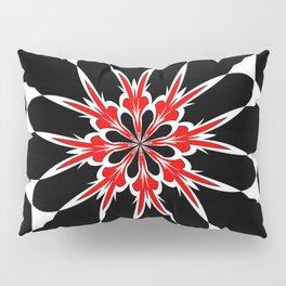Bizarre Red Black and White Pattern 3 Pillow Sham