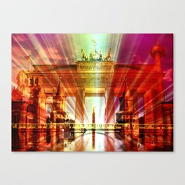Berlin Collage Canvas Print