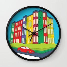 Tenement Corner Wall Clock