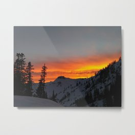 Fire Mountain Metal Print