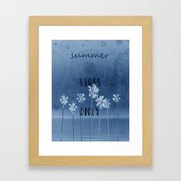 summer vibes only vintage blue Framed Art Print