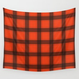 Classic Red Plaid Wall Tapestry