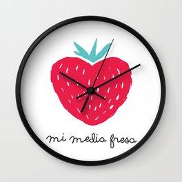 Mi media fresa Wall Clock