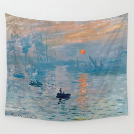 Claude Monet Impression Sunrise Wall Tapestry