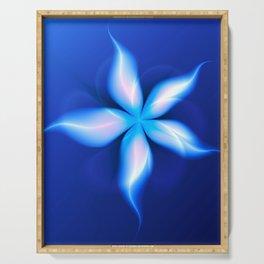 La Fleur Magique de la Sorcière Fractal Serving Tray