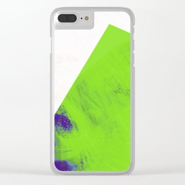 green triangle Clear iPhone Case