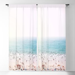 Crowded Beach at Sunset Blackout Curtain