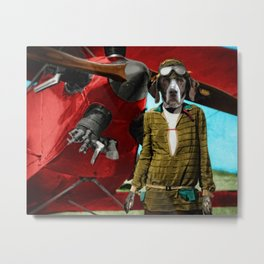 Maggie's Transatlantic Flight Metal Print