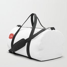 Red lip Duffle Bag