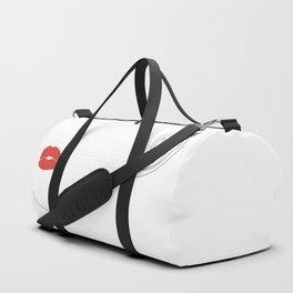 Red lip Duffle Bag
