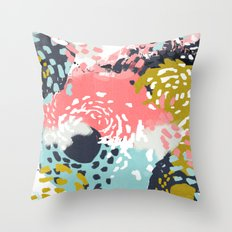 Athena - abstract painting hipster home decor trendy color palette art gifts Throw Pillow
