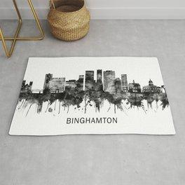 Binghamton New York Skyline BW Rug