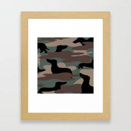 Camo Weiner Dogg Framed Art Print