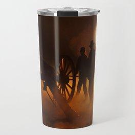 """Artillery Hell"" Night firing of original Civil War 6 lb. bronze canons. Travel Mug"
