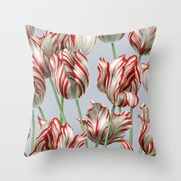 Semper Augustus Tulips Throw Pillow
