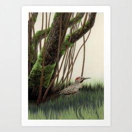 Flicker of Garden Art Print