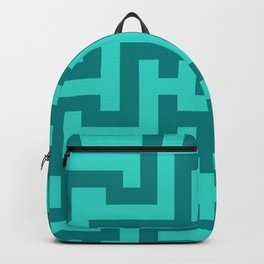 Teal and Turquoise Labyrinth Backpack