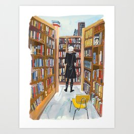 Poli at Book Culture Art Print