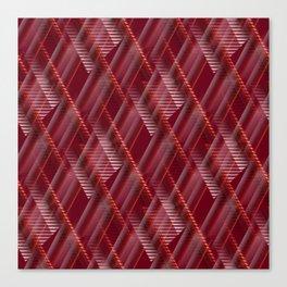 Pattern red shutter Canvas Print