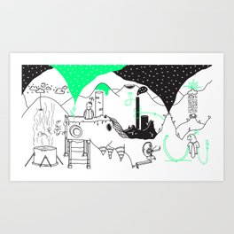 environmental digging Art Print