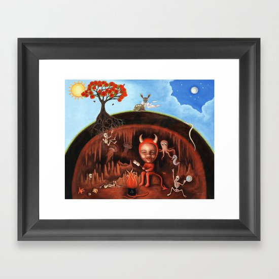 Under the Gulmohar Tree Framed Art Print