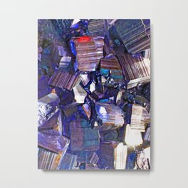 Ultraviolet Iridescent Metal Print