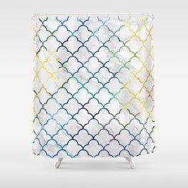 Art Deco Watercolour Pattern Shower Curtain