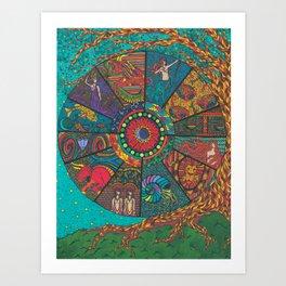 The Western Zodiac Art Print