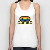 gamer Tank Tops featuring Rainbow Gamer by UMe Images