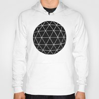 triangles Hoodies featuring Geodesic by Terry Fan