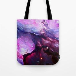Wavy Galaxy Tote Bag