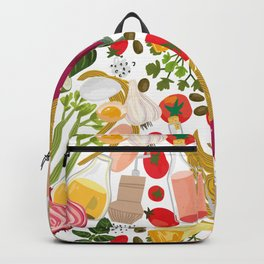 Fresh Italian Market Food Backpack