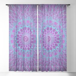 Dreamcatcher Psychedelic Space Galaxy Burst Sheer Curtain