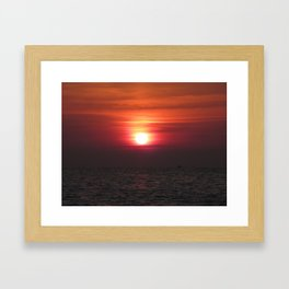 SUNRISE ON THE ADRIATIQUE SEA Framed Art Print