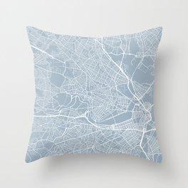 Cambridge Map, USA - Slate Throw Pillow