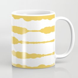 Macrame Stripes in Mustard Yellow and White Coffee Mug
