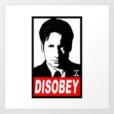 Disobey Mulder Art Print