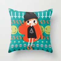 grunge Throw Pillows featuring Grunge by Irene Dose