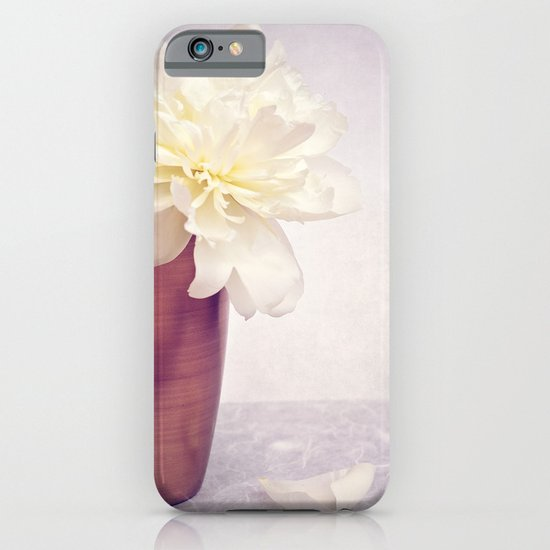 PEONY LOVE - Still life with vase and white peony iPhone & iPod Case