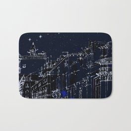 Night vision in time Bath Mat