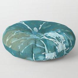 Bluebells Cyanotype Print Floor Pillow