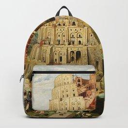 Tower Of Babel Pieter Bruegel The Elder Backpack