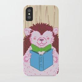 Grab a Book - Home Economics - Hedgehog Love iPhone Case
