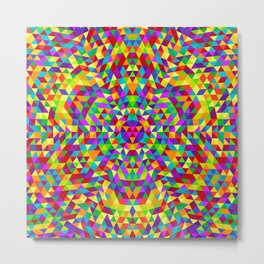 Happy triangle mandala 2 Metal Print