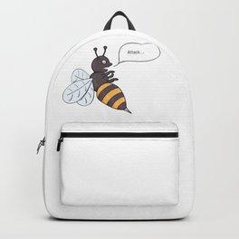 aggressive wasp attacking Backpack