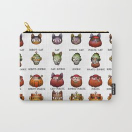 Cat Zombie Pirate Robot Carry-All Pouch
