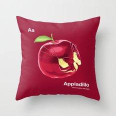 Aa - Appladillo // Half Armadillo, Half Apple Throw Pillow