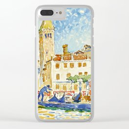 "Henri-Edmond Cross ""VENISE, L'ÉGLISE SAN MOISÈ"" Clear iPhone Case"