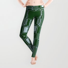 Computer Geek Circuit Board Pattern Leggings